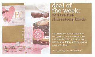 Rhinestone deal of week
