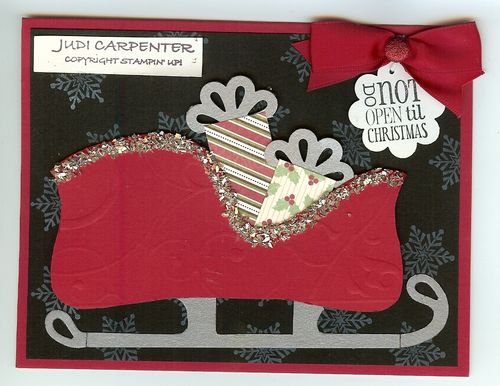 Top Note Sleigh card
